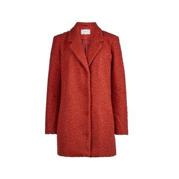 **Vila Red Boucle Boyfriend Coat