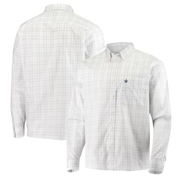 Dallas Cowboys Antigua Concord Long Sleeve Button-Down Shirt - White