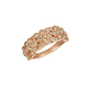 Nude Diamonds and 14K Strawberry Gold Ring