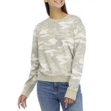 Wallflower Women's Junior's Long Sleeve Printed Sweatshirt - -