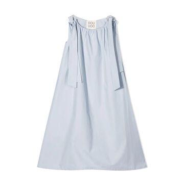 Douuod Sky-blue Cotton Dress