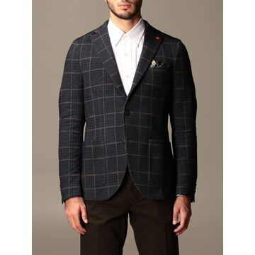 Manuel Ritz Checked Single-breasted Jacket