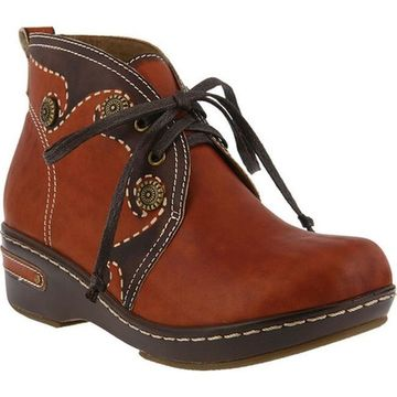 L'Artiste by Spring Step Women's Cookie Chukka Boot Camel Leather