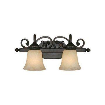 Golden Lighting 4074-2 RBZ 2-Light Vanity Light