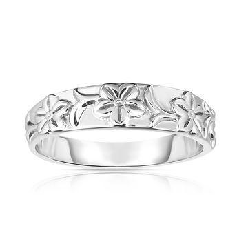 Noray Designs 14k Gold Flower Design Wide Ring