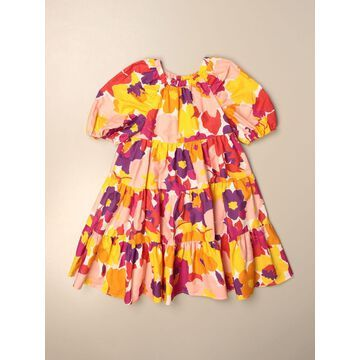 Il Gufo wide dress in floral patterned cotton