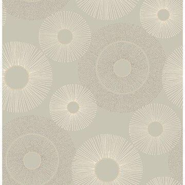 Kenneth James Eternity Taupe Geometric Wallpaper
