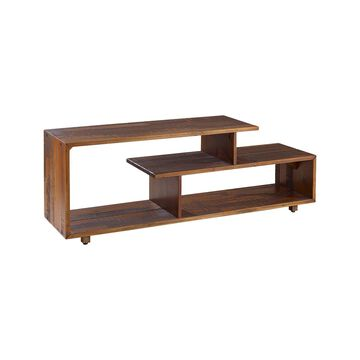 Walker Edison Console and Sofa Tables Amber - Amber Open-Shelf Media Console