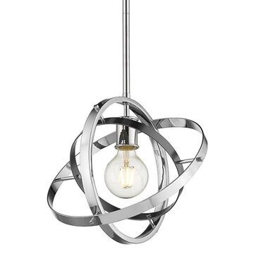 Golden Lighting Atom Chrome Modern/Contemporary Geometric Pendant Light