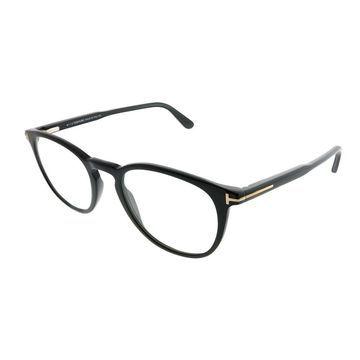 Tom Ford Round FT 5401 001 Unisex Shiny Black Frame Eyeglasses