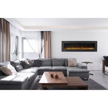 Allure 72-inch Linear Wall Mount Electric Fireplace with Remote Control