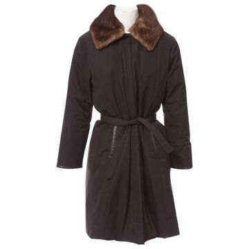 Moncler Black Polyester Coats