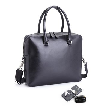 Royce Leather RFID Travel Briefcase with Portable Power Bank