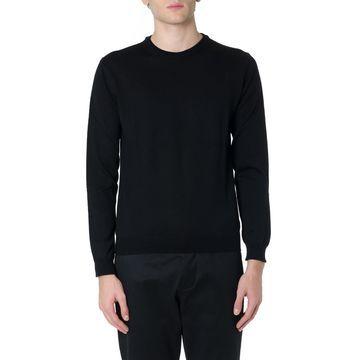 Zanone Black Virgin Wool Knitwear