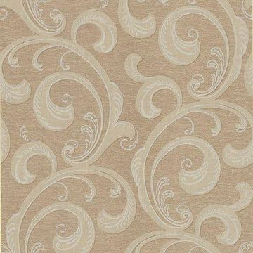 Kenneth James Nijah Light Brown Scroll Wallpaper