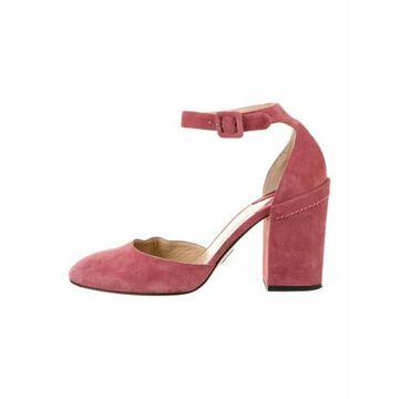 Suede D'Orsay Pumps Pink