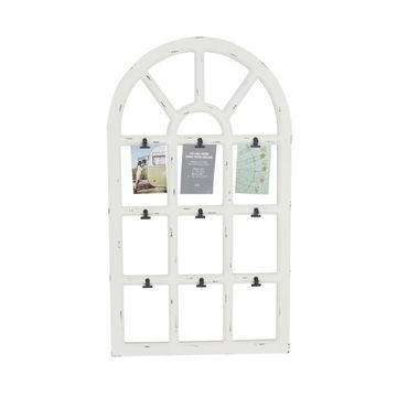 White Window Frame with Clips, Collage by Studio Decor