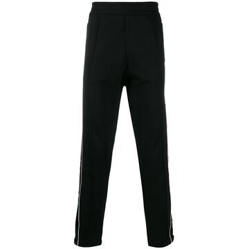 sequin stripe track trousers