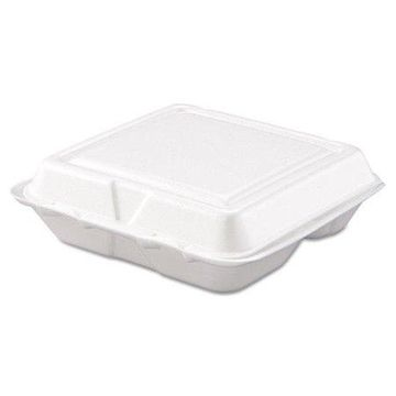 Dart Foam 3 Compartment Carryout Food Containers, 200 count