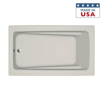 Jacuzzi Primo 42-in W x 72-in L Oyster Acrylic Rectangular Reversible Drain Drop-In Soaking Bathtub in Off-White   P1D7242BUXXXXY