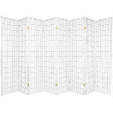 Oriental Furniture 8-Panel White Paper Folding Shoji Style Room Divider | SSCWP-8P-WHT