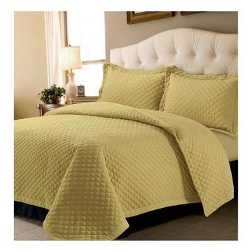 Brisbane Solid Oversized Diamond Quilt Set - Tribeca Living