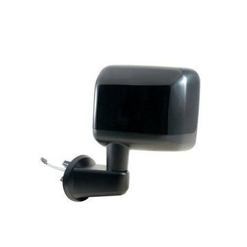 60212C - Fit System Driver Side Mirror for 2014 Jeep Wrangler, textured black w/ PTM cover, foldaway, Heated Power