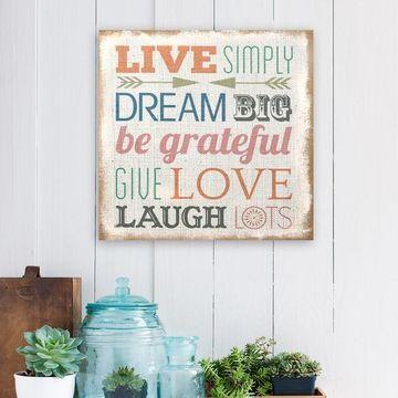 Stratton Home Decor ''Live Simply'' Wall Art