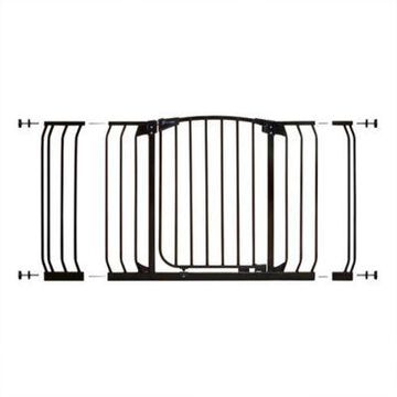 Dreambaby Chelsea Hallway Auto Close Stay Open Security Gate Value Pack in Black