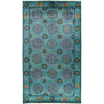 Solo Rugs One-of-a-kind Suzani Hand-knotted Area Rug 9' x 12'