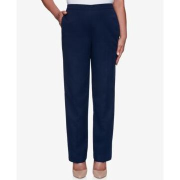 Alfred Dunner Petite Anchor's Away Pull-On Pants