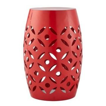 Red Flower Cut Out Garden Stool by Ashland