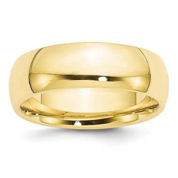 10 Karat Yellow Gold 7mm Comfort-Fit Band by Versil
