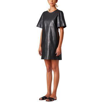 Carolina Herrera Leather Shift Dress
