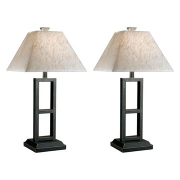 Deidra Metal Set Of 2 Table Lamp Black - Signature Design by Ashley