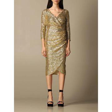 Elisabetta Franchi midi dress with sequins