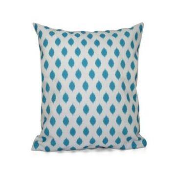 16 Inch Turquoise Decorative Geometric Throw Pillow