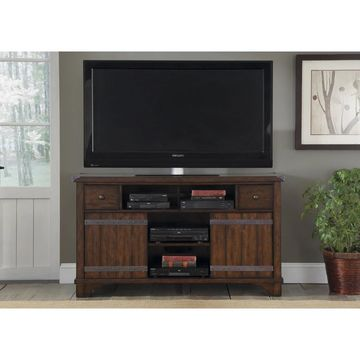 Liberty Russet Brown Darn Door TV Conosle - n/a