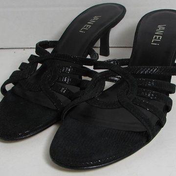 Vaneli Womens Marieke Slide Dress Sandal Shoes, Black Liz Print, US 7 Narrow