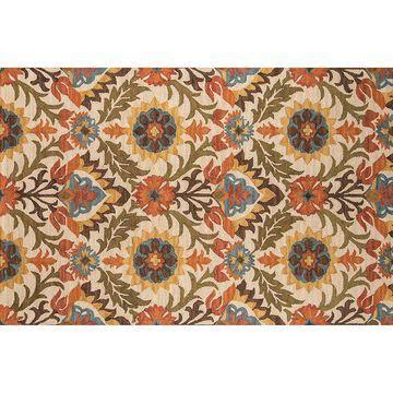 Momeni Tangier Adabella Floral Wool Rug, Gold, 5X8 Ft