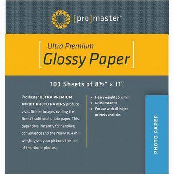 Promaster Glossy Inkjet Photo Paper - 8 1/2 x 11'' - 100 sheets