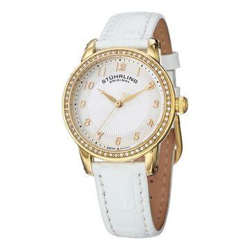 Stuhrling Original Women's Symphony Swiss Quartz Crystal Leather Strap Watch (Stuhrling Original Women's Watch)