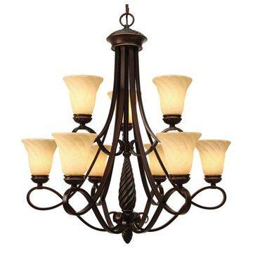 Golden Lighting 8106-9 CDB 9-Light Chandelier