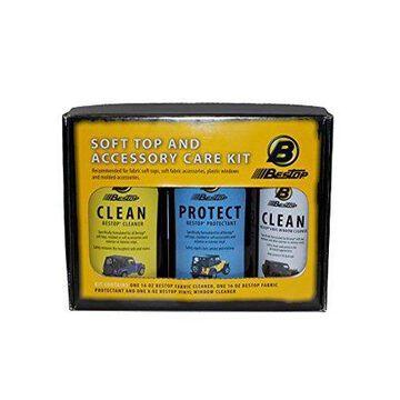 Bestop 11215-00 Fabric Care Pack -iVinyl Soft Top Cleaner, Vinyl Window Cleaner