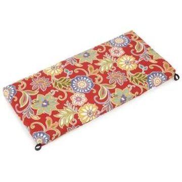 Blazing Needles 40-inch All-Weather Bench Cushion (Alinea Pompeii)