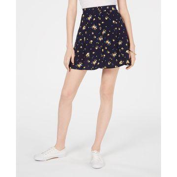 Juniors' Floral-Print Mini Skirt