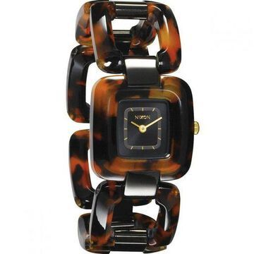 Nixon A2481679 Womens Brown Plastic Band With Black Analog Dial Genuine Watch