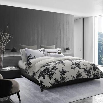 Vera Wang Ink Botanical Black Duvet Cover