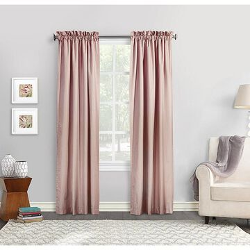 """Commonwealth Home Fashions Ticking Stripe 84"""" Window Curtain Panels In Burgundy (Set Of 2)"""