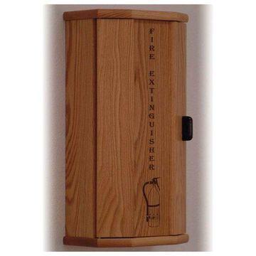 Wooden Mallet 10 lbs Engraved Fire Extinguisher Cabinet in Light Oak